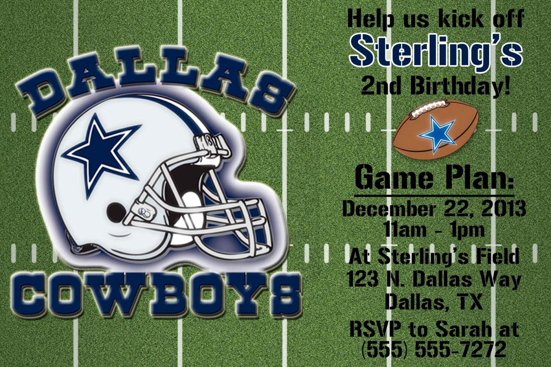 Dallas cowboys football invitation or thank you card zoom kristyandbryce Choice Image