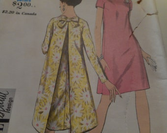 RARE Vintage 1960's Vogue 7110 Special Design Dress Sewing Pattern Sized 14 Bust 34