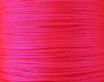 Nylon thread 0,8mm hot pink 10m