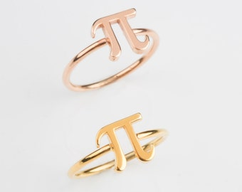 Pi ring  Solid gold pi ring  Math jewelry  Pi ring   K14 pi ring  Gold pi ring K18 pi ring  Rose pi ring Graduation