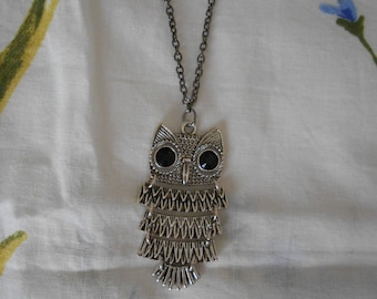 49 C - Silver OWL necklace