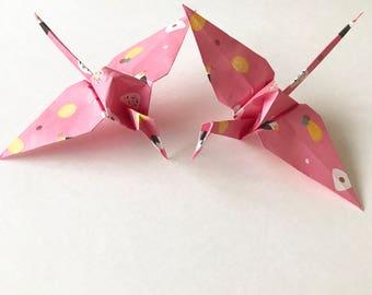 Pink Sushi Origami Paper Cranes