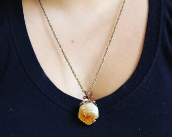 Citrine Copper Necklace