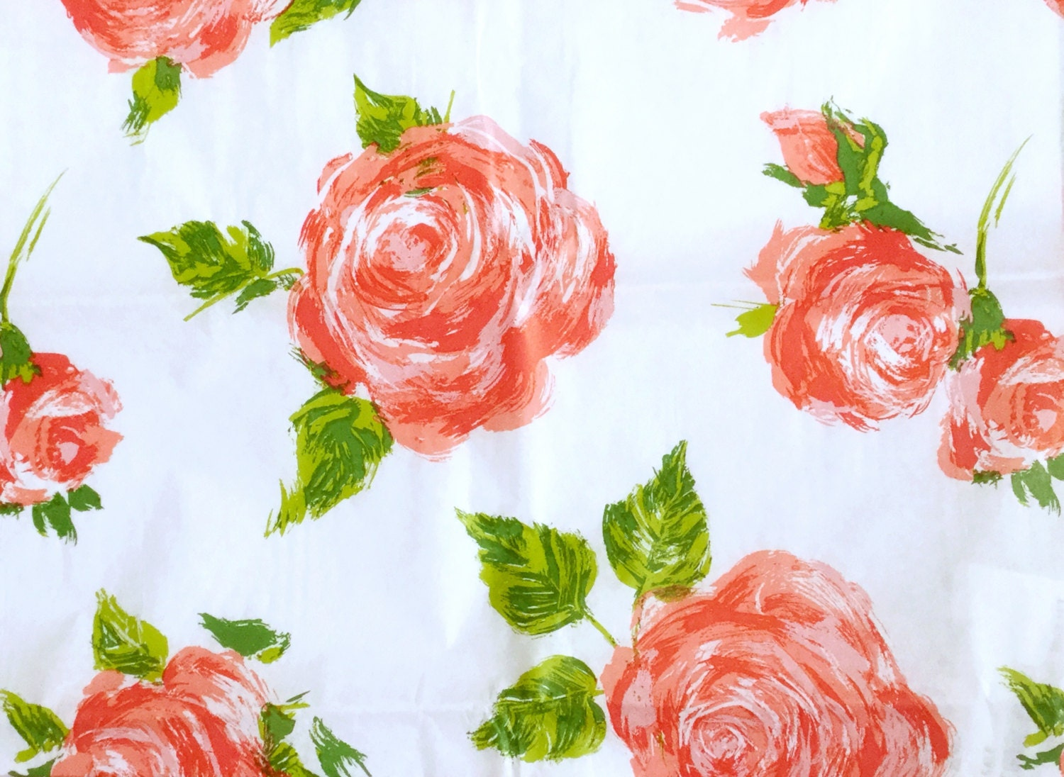 Cottage Rose Flowers Floral Tissue Paper Gift Wrap Shabby Wrapping