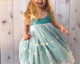 SAMPLE SALE - Marin Dress in Teal - Size 4... and it's reversible