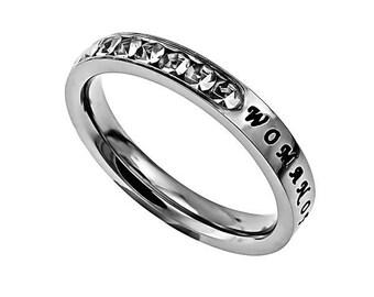 """Princess Ring """"Woman Of God"""""""
