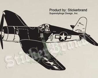 Vinyl Wall Decal Sticker World War II Fighter Airplane item350