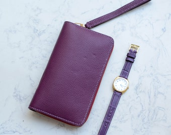 Handmade leather waller - Zip locked wallet