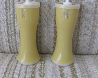 Crownware Plastic Ketchup and Mustard Dispensers