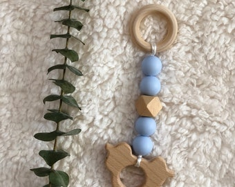 Silicone/Wooden Teether