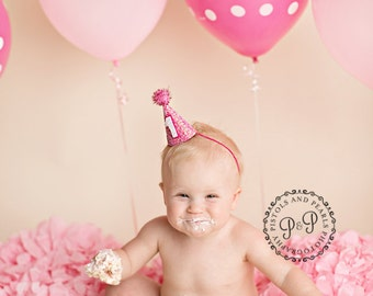First Birthday Party Hat || 1st Birthday Party Hat || First Birthday ||Girl First Birthday || Cake Smash || Photo Prop