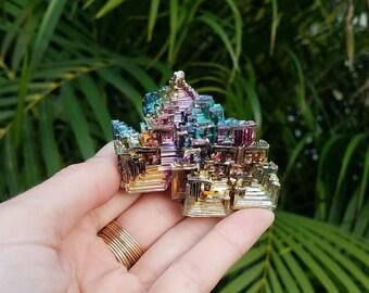 Rainbow Bismuth Crystal  2.60x2x1.35''