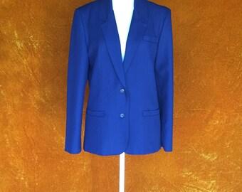 Vintage 1970s Navy Blue Blazer