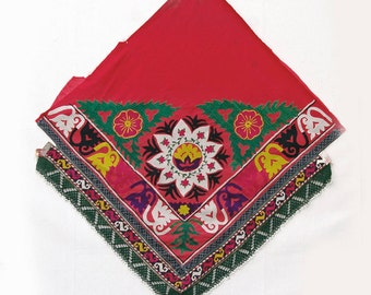 Vintage Uzbek Textile: Ethnic Wallhanging, Saye Gosha 566
