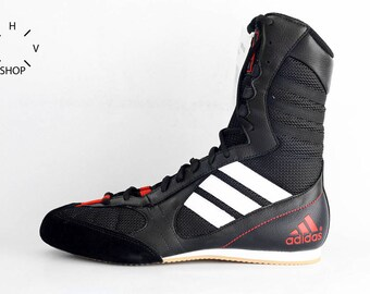 NOS Adidas Tygun boots / OG Deadstock Trainers Sneakers / Black White Red vintage kicks / Lightweight Boxing Wrestling Combats MMA shoes