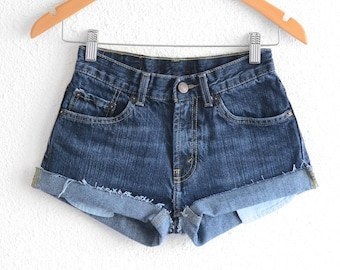 Levis High Waisted Shorts size 0 Shorts Vintage Levi High Waisted Jean Shorts High Waist Shorts Denim Cutoffs xs waist 25