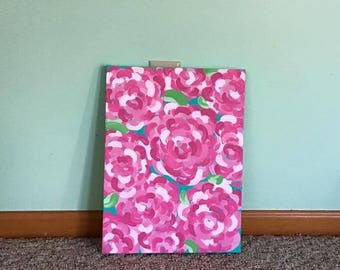 Lilly Pulitzer Flower Inspired Canvas Painting