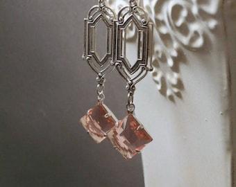 Art Deco Earrings - Great Gatsby Jewelry - 1920s Flapper Jewelry - Downton Abbey Style Jewelry - Miss Fisher - Jazz Age Jewelry