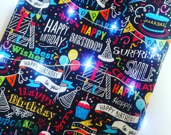 Birthday book sleeve - ALL SIZES