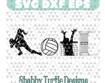 Volleyball Love SVG DXF EPS
