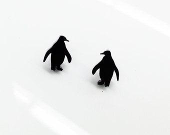 Penguin   Laser Cut Earrings   Laser Cut Jewelry   Hypoallergenic Studs