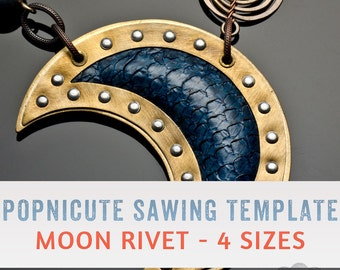 DIGITAL SAWING TEMPLATES - Crescent Moon - 4 Sizes