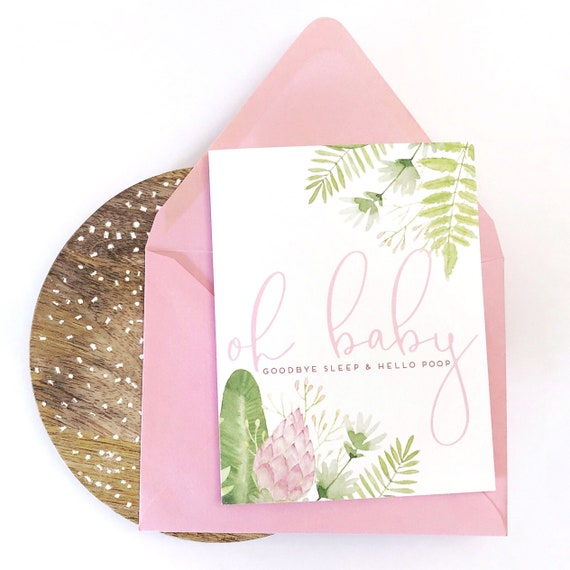 Oh Baby! Goodbye Sleep & Hello Poop Baby Shower/Expecting Card