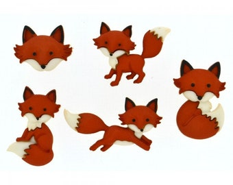 Outfoxed Fox Buttons by Dress It Up (8293)