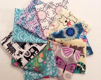 Handkerchief Womens, Ladies Handkerchiefs, Set of 10, Flannel Handkerchiefs, Reusable Tissues, Paperless Hankies, Womens Handkerchief WH806