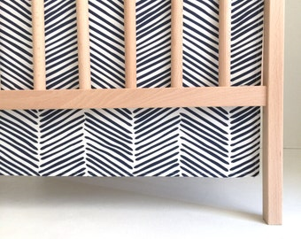 Crib Skirt Navy Freeform Arrows. Baby Bedding. Crib Bedding. Crib Skirt Boy. Baby Boy Nursery. Navy Crib Skirt. Chevron Crib Skirt.