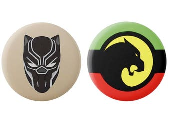 Marvel - Black Panther - Badges/Magnets - Wakanda - Superhero - Badge - Magnet - Comic Book