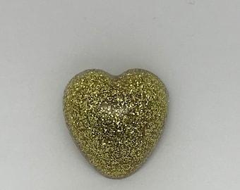 Heart of Gold Brooch