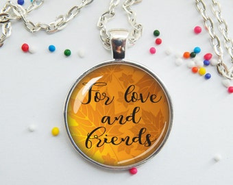 DISCONTINUED! Thanksgiving jewelry pendant necklace - giving thanks for love and friends