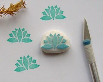 Lotus rubber stamp, lotus stamp, flower stamp, water lily stamp, yoga stamp, waterlily stamp, lotus waterlily, lotus flower, lotus yoga, DIY