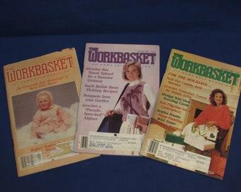 WORKBASKET and Home Arts MAGAZINE 1986 Set of 3