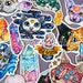 Cats & Crystals Sticker Set