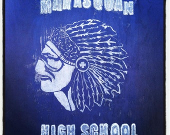 Shore: Manasquan High School Tile Coaster Painted Shed Outside of Field