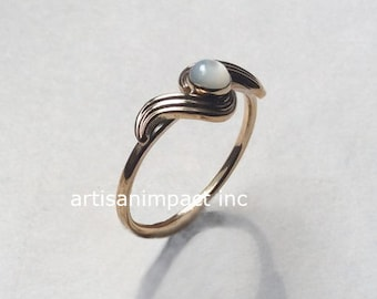 Dainty ring, Gold shell ring, delicate ring, boho ring, engagement ring, Gold Filled ring, shell ring, simple Gold ring - The Reason R2248