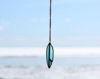 Blue feather necklace. boho necklace, native american jewelry, shaman necklace, feather jewelry, gypsy necklace, bohemian jewelry, hippie