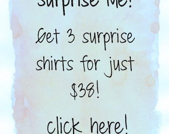 SALE - xs, s, m, l, xl, xxl - 3 piece grab bag. graphic tees for women. silk screened tee shirts. sale, clearance sale, womens plus size,