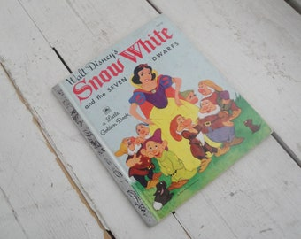 Vintage Children's Book Snow White Little Golden Book