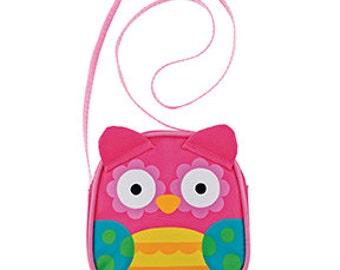 Owl Crossbody Purse Stephen Joseph Children's Cute Owl Girl Applique Bag Pink Teal Yellow White Green Black
