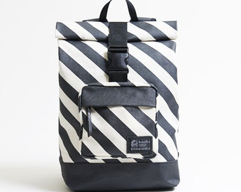 Messanger backpack - high quality Japanese canvas + hand screen print
