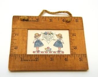 Small Friendship Yard Stick Framed Print