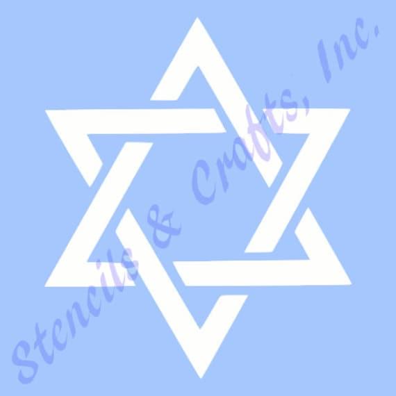 4 star of david stencil celestial stencils stars sky