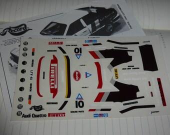 1:43 decals for Audi Quattro Gr.4 Pirelli RAC Rally 1982 Mikkola/Hertz Record-Miniminiera 10207