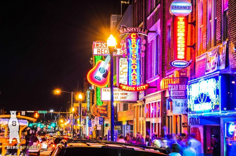 Neon Art Print Nashville Print Nashville Wall Art City