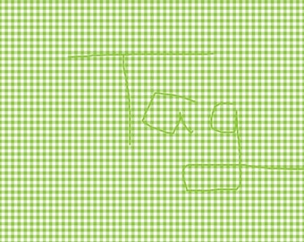 Lime Green Gingham Cardstock Paper