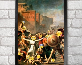 The Intervention of the Sabine Women print + 3 for 2 offer! size A3+  33 x 48 cm;  13 x 19 in, Emoji Painting