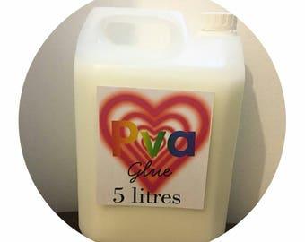 PVA Washable Glue.  500ml. 1Litre. 5Litre